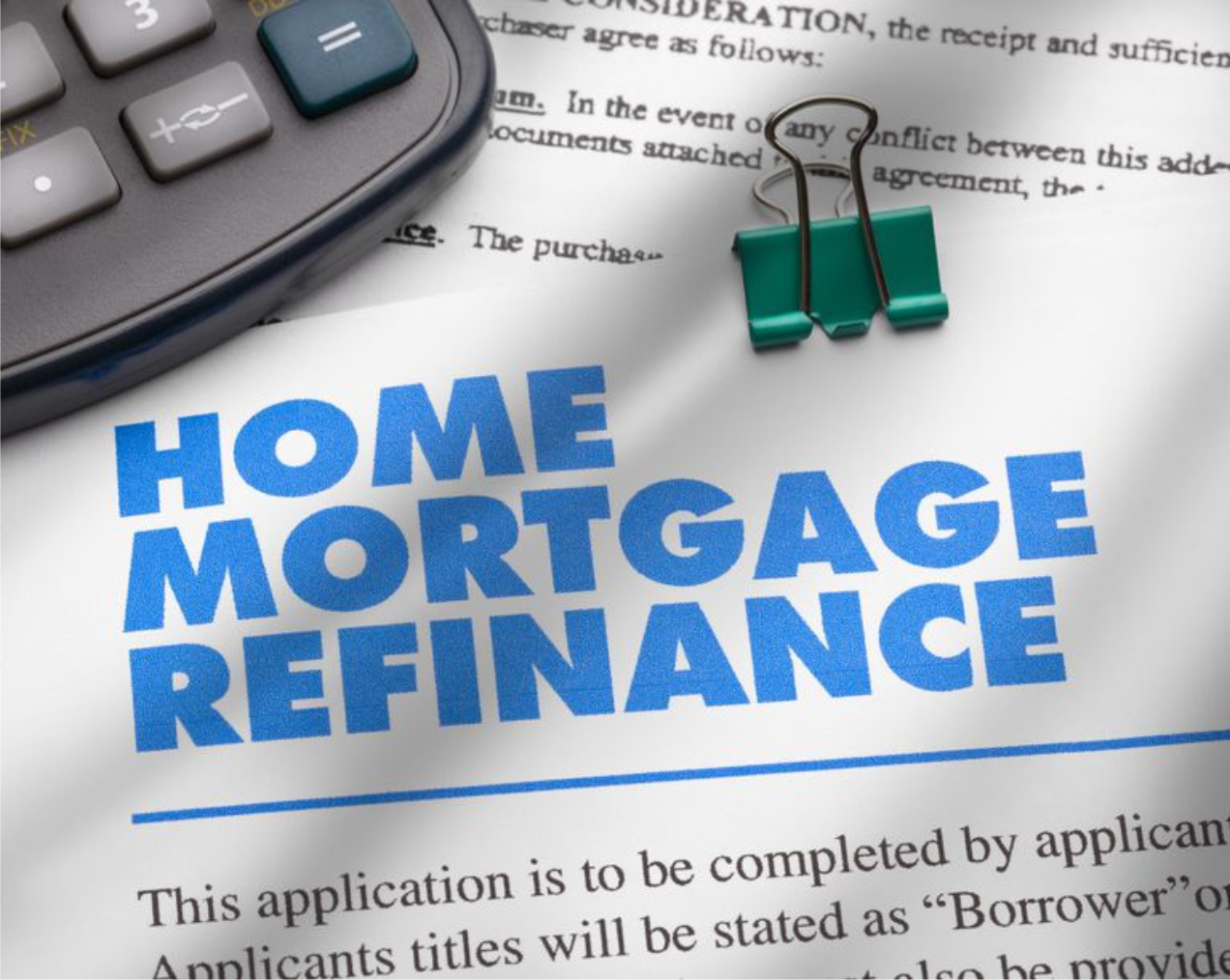 Re-financing may be an option